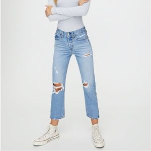 Levi's WEDGIE STRAIGHT Cropped, High-Waisted Jean